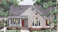 House Plan 40006 | Country European Ranch Plan with 1539 Sq. Ft., 3 Bedrooms, 2 Bathrooms, 2 Car Garage at family home plans