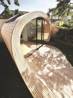 Tubesque! Un pavillon pour abriter votre bureau - L'esprit cabane - CôtéMaison.fr