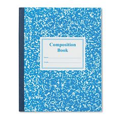 Roaring Spring Grade School Ruled Composition Book, 9 3/4 x 7 3/4, Blue Cover, 50 Pages, White