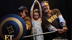 Comic-Con Super-Powered Pics from ET's Photo Booth! The Walking Dead, Walking Dead Coral, Walking Dead Memes, Judith Grimes, Amc Shows, Kevin Costner, Entertainment Tonight, Jeffrey Dean Morgan, San Diego Comic Con