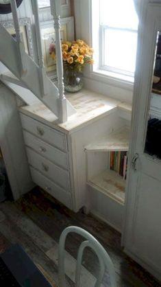 Amazing loft stair for tiny house ideas (19)
