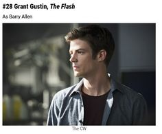 TV's 100 Sexiest Men of 2015 #28 Grant Gustin  @grantgust