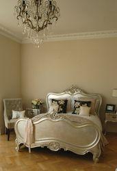 Rococo Silver leaf bed