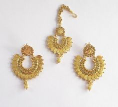 Gold Coin Earrings Tikka Jewelry Online/South by Beauteshoppe