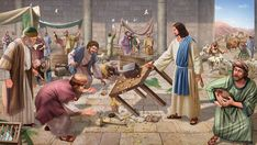 """Jesus cleanses the temple (overturning the tables) """"Thus He said: 'I will have mercy and not sacrifice.' It is evident that in the eyes of the Lord Jesus most people under the law no longer worshiped Jehovah but were merely going through the process of sacrificing and the Lord Jesus determined that this process was 'idol worship.' These idol-worshipers saw the temple as something greater and higher than God. In their hearts there was only the temple not God and if they lost the temple they…"""