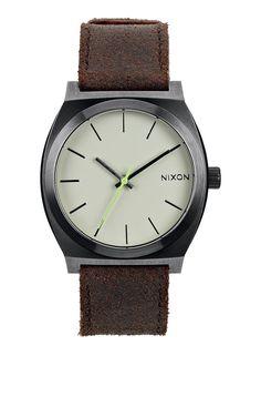 Time Teller - Gunmetal / Brown | Nixon Neo Preen