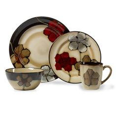 Bring a bold look to your dinner table with this Pfaltzgraff Painted Poppies dinnerware set. Made of stoneware. Dinnerware Set For Casual style. Painted Poppies patterns and accents. We PROMISE we can make you happy if you give us a fair chance. Casual Dinnerware Sets, Dinnerware Sets For 12, Stoneware Dinnerware Sets, Square Dinnerware Set, Serveware, Tableware, Serving Dishes, The Fresh, Dinner Plates