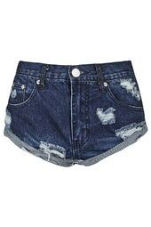 TOPSHOP - **Ripped Denim Shorts by Glamorous
