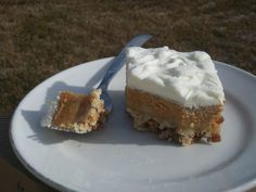 Throw Back Thursday Creamy Pumpkin Crisp - perfect way to get pumpkin flavor without the same old pie!  YUM!