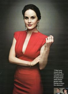 Downton Abbeys The Lady in Red....Lady Mary
