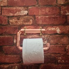 Toilet roll holder copper industrial copper pipe