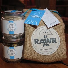 I RAWR YOU it means I LOVE YOU in dinosaur language.  -------------------------------- - burlap pouch - 1 jar of any varian crunchy delight - 1 jar of schuimpjes choco - Greeting cards ------------------------------------------ Open order : 20 - 8 February 2016 Delivery date: 10-12 February 2016 ---------------------------------------- #daydreamer #daydreamerland #daydreamercookies #daydreamerhampers #cookies #cookiesinjar #cookiesbandung #kukis #kuekering #hampers #babyhampers  #valentine…