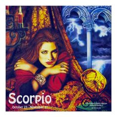 The Crystal Wind™ #Zodiac Collection.  #Scorpio the 8th sign of the Zodiac. Art by Lisa Iris