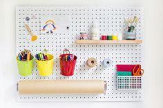 Kids Craft Station Pack #kidsdecor #craftpegboard #pegboard #kidspegboard #craftstation