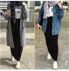 Haf_tima – Best Of Likes Share Modern Hijab Fashion, Street Hijab Fashion, Hijab Fashion Inspiration, Muslim Fashion, Modest Fashion, Fashion Outfits, Hijab Casual, Hijab Chic, Hijab Stile