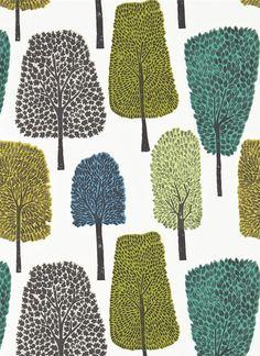Hannah Bowen's 'Cedar' design for Scion's fabric and wallpaper collection 'Levande'
