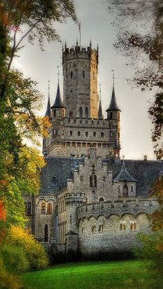 Marienburg Castle is a Gothic revival castle in Lower Saxony, Germany. (I think if I had lived in Germany, I would have had a better chance at a castle! Beautiful Castles, Beautiful Buildings, Beautiful Places, Amazing Places, Chateau Medieval, Medieval Castle, Gothic Castle, Fairytale Castle, Castle In The Sky