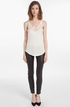 maje Lace Inset Racerback Tank available at #Nordstrom