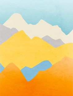 Modern Wall Art Minimalist Posters Abstract Landscape by evesand