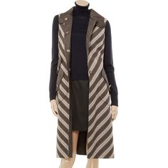Marc Jacobs Wool sleeveless coat ($575) ❤ liked on Polyvore