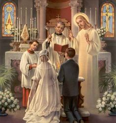What Is The Sacrament Of Matrimony Which Unites A Man And Woman In Lawful Marriage