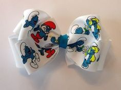 Smurfs Hair bow!!! OMW...if anyone see's this ribbon, grab it for me!