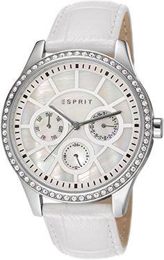 Esprit damen armbanduhr lizzie silver