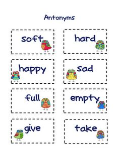 Worksheets Example Of Antonyms what are synonyms words that have similar meanings for example free worksheet and matching cards 3 pages antonyms
