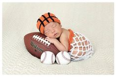 Hey, I found this really awesome Etsy listing at https://www.etsy.com/listing/182807075/newborn-baby-basketball-sport-hat-and newborn photos, sports themed newborn photos #baby #photography #newborn