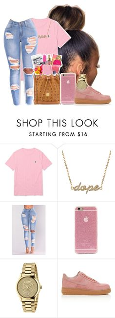 """12*26*17"" by raemiyaa ❤ liked on Polyvore featuring Ralph Lauren, Khai Khai, NESSA, Gucci and NIKE"