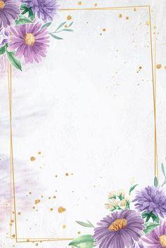 Flower Background Wallpaper, Framed Wallpaper, Frame Background, Light Blue Background, Cute Wallpaper Backgrounds, Flower Backgrounds, Colorful Wallpaper, Cute Wallpapers, Purple Flowers Wallpaper