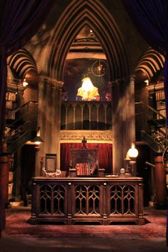 Dumbledore's office inside Hogwarts at Universal Studios