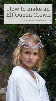 How to make a Galadriel crown with a glue gun that looks like silver   Halloween costume or cosplay   Elf costume crown   Lord of the Rings Kids Elf Costume, Diy Costumes, Wood Elf Costume, Costume Ideas, Children Costumes, Masque Halloween, Halloween Diy, Fairy Tale Costumes, Dark Fairy Costume