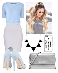 """Scream Queen Inspired Outfit"" by pandagirl2102 ❤ liked on Polyvore featuring Glamorous, Dee Keller, MICHAEL Michael Kors and Zero Gravity"