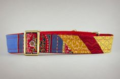Martingale Collar Red Blue and Yellow Dog Collar by PuppyRiot