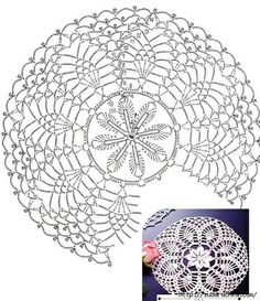 tablecloth / crochet hook on Stylowi. Crochet Tablecloth Pattern, Crochet Doily Patterns, Crochet Mandala, Freeform Crochet, Crochet Diagram, Thread Crochet, Crochet Motif, Crochet Doilies, Crochet Stitches
