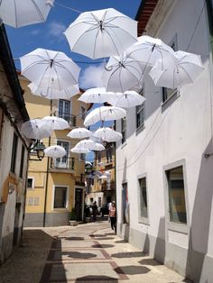 Umbrella Sky project in Águeda - Portugal