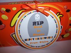 Halloween Favor Tags  Halloween Tags  reece's pieces rest in pieces by kidEprints, $5.99