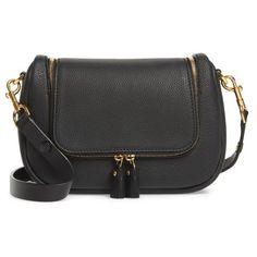 Women's Anya Hindmarch Small Vere Leather Crossbody Satchel ($895) ❤ liked on Polyvore featuring bags, handbags, black, tassel purse, leather flap handbags, leather crossbody, leather satchel and leather cross body handbags