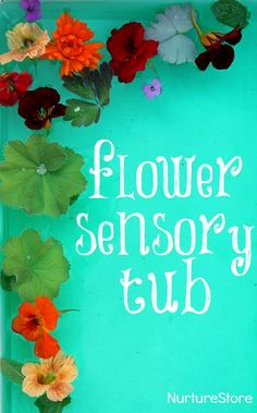 Love this flower sensory tub - so simple to make, and so pretty to play with.