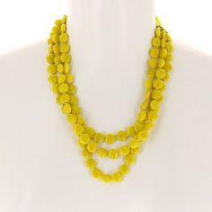 Collier jaune en perles - Bijou fantaisie - Idée cadeau noël: ShalinCraft: Amazon.fr: Bijoux