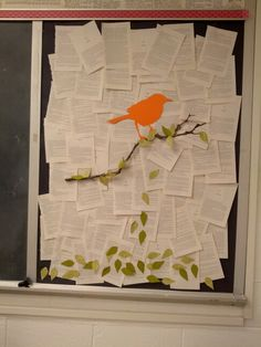 To Kill a Mockingbird mural. High School classroom. Maybe use student poems for/about the book instead of pages from the book.