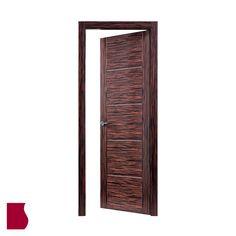 Modelo L84 ÉBANO GRECA PLATA MADERA OSCURA / Colección Lisa / Puertas de interior Sanrafael