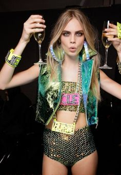 Cara Delevingne rocks the party