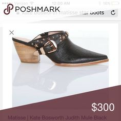 Matisse X Kate Bosworth Judith Star Mule Only worn once!!! Original packing! Black star studded Judith Mule. Sold out everywhere!!! Matisse Shoes Mules & Clogs