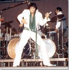 Elvis Presley on stage in Mobile, Alabama, September 1970.