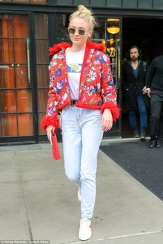 Stand out in Kenzo like Sophie Turner #DailyMail Click 'Visit' to buy now #celebritystyle #fashion #sophieturner #kenzo