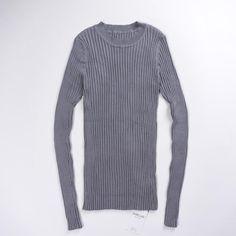 244e75ce22 Women Sweater Pullover Basic Rib Knitted Cotton Tops Solid Crew Neck  Essential Jumper Long Sleeve Sweaters