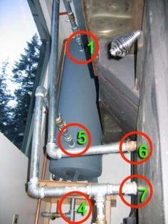 wood stove boiler water coil hot water system