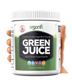 """Healthy, All-Natural, Organic Food Haul: Coconut & Ashwagandha Infused Green Juice Superfood Mix by Organifi ***See """"Visit"""" for how to use mix for juices. Detox Diet Drinks, Juice Drinks, Detox Juices, Smoothie Drinks, Smoothie Diet, Veggie Juice, Lemon Diet, Juice Cleanse, Cleanse Detox"""
